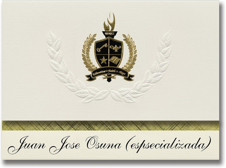 Signature Signature Signature Announcements Juan Jose Osuna (espsecializada) (San Juan, PR) Abschlussankündigungen, Präsidential-Stil, Grundpaket mit 25 Goldfarbenen und schwarzen metallischen Folienversiegelungen B079666Z7J | Haben Wir Lob Von Kunden Gewonnen  9019b9