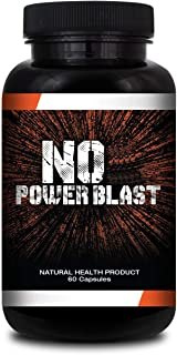 NITRIC OXIDE POWER BLAST -Breakthrough NO Booster for Size, Endurance and Recovery-60 capsules