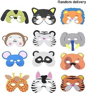 12PCS/Set Funny EVA Children Cartoon Animal Masks Dress Up Costume Zoo Jungle Party Supplies for Children (Pattern Random) - Random