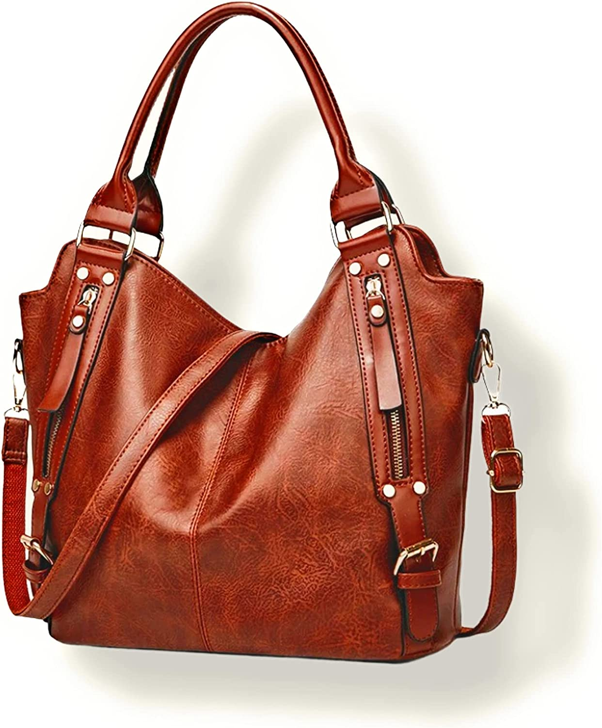 Women's trendy luxury fashion hobo Pu leather shoulder/crossbody handbag size large in different color