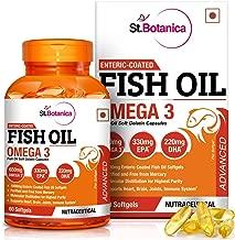 St.Botanica Fish Oil Omega 3 Advanced 1000Mg (Double Strength) 650Mg Omega 3 - 60 Enteric Coated Softgels