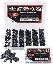 moveland 120 Pcs 6.3mm 8mm 9mm 10mm Nylon Bumper Push Fasteners Rivet Clips Expansion Screws Replacement Kit