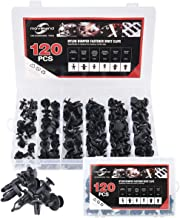 moveland 120 pcs Nylon Bumper Push Fasteners Rivet Clips Expansion Screws Replacement Kit - 6 Most Common Sizes