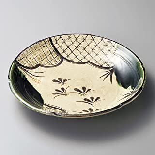 Round dish Oribe Cloisonne dish size [ 25.5 x 3.7cm ] Clay 920g Japanese dish plates traditional oriental asian