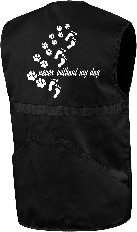 Never Without My Dog Bimaxx Hundesport-Weste Pfoten Hundepfoten Abdr/ücke