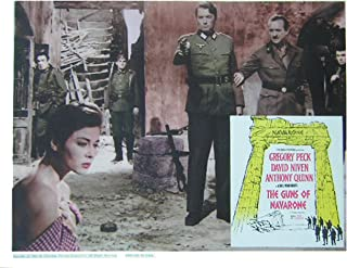 Guns of Navarone 1961 Authentic, Original Gregory Peck WW2 story 11x14 Lobby Card Movie Poster