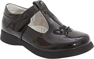 Boulevard Girls Black Patent Velcro School Shoes 758AP