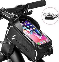 کیف جلوی تلفن دوچرخه - دوچرخه ضد آب دوچرخه با دوچرخه بالای لوله با صفحه نمایش لمسی جعبه تلفن دارای ظرفیت بزرگ Sun Visor برای تلفن های همراه زیر iPhone 7 8 Plus 6.5 'iPhone 7 8 xs max