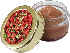 Khadi Essentials Luxurious Ayurvedic Strawberry & Beetroot Lip Lightening Lip Scrub for Lip Lightening, Brightening, Exfoliation & Cleansing Organic SLS & Parabens Free