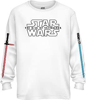 Episode IX Rise of Skywalker Lightsaber Logo Longsleeve Adult T-Shirt