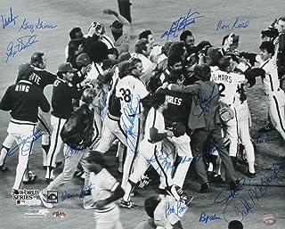 1980 Philadelphia Phillies Team Signed 16x20 Photo - 18 Total Signatures! - Dallas Green, Bob Boone, Gary Maddox, etc.