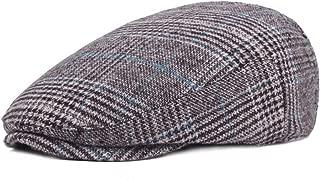Mens Woolen Plaid Flat Ivy Newsboy Cabbie Gatsby Paperboy Hats Caps for Men