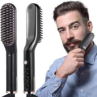 liaboe Cepillo Alisador de Barba 3 en 1 Profesional Multifuncional Peine Alisador Electrico para Hombr Rápido Peine Alisador Nutrición Aniónica Temperatura Regulable