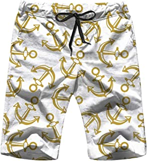Anchors Ongoing Marine Food and Drink Mens Boardshorts Swim Trunks Quick-Drying Running Shorts