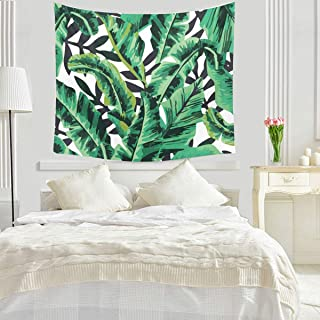 Tapestry Wall Hanging 3D Banana Leaf Tapestries Tropical Green Leaves Blanket Cool Plant Curtains Vintage Tablecloth for Dorm Door Bedroom Living Room Window Decortive Home Decor 59X79inch(150X200cm)