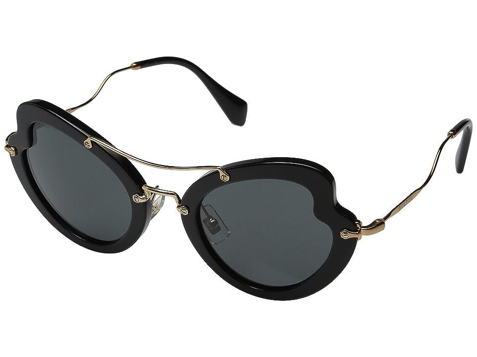 Miu Miu 0MU 11RS (Black/Grey) Fashion Sunglasses