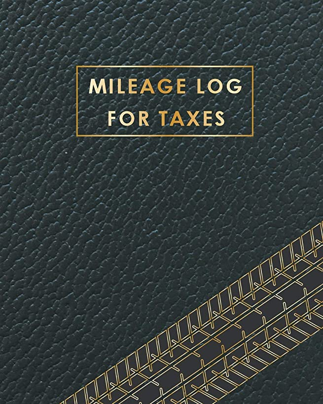 Mileage Log for Taxes: Black Cover | Daily Tracking Your Simple Mileage Log Book, Odometer | Notebook for Business or Personal