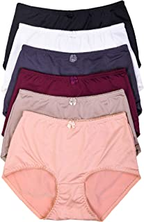 ToBeInStyle Women's 6 Pack Highwaisted Ribbon Accent Full Girdle Panties