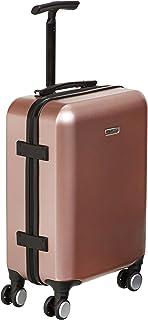 Amazon Basics Bagage de cabine métallisé avec roulettes pivotantes, 55 cm, Doré rose