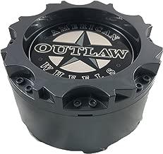 American Outlaw Wheels BC-895 Gloss Grey Custom Wheel Center Caps (1 CAP) NEW!