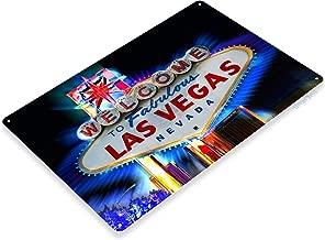"Tinworld TIN Sign ""Welcome to Las Vegas Hotel Casino Metal Decor Wall Art Nevada A701"