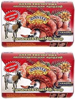 Asantee Herbal Tamarind & Goat Milk Soap Whitening, Anti Acnes, Wrinkles and Ageing 125 g. (Pack of 2 Pcs.)