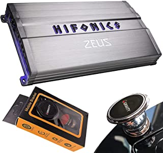 $219 » Hifonics ZG-3200.1D 3200 Watts Zeus Gamma Mono Subwoofer Car Audio Amplifier with Gravity Magnet Phone Holder