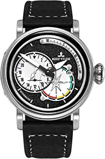 Stainless Steel Pilot Watches Leather Strap Automatic Watches Military Watches RGA3019