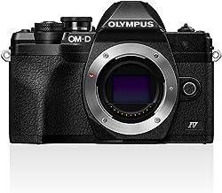 Olympus OM-D E-M10 MarkIV Micro-Four-Thirds-Systemkamera, 20MP Sensor, 5-Achsen-Bildstabilisation, Selbstporträt-LCD-Bildschirm, elektronischer Sucher, 4K-Video, leistungsstarker AF, Wi-Fi, schwarz