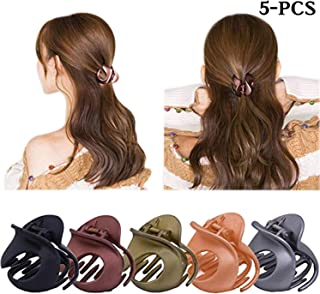 fdc9b5787cc2 Ying Women Hair Clamps Non Slip Jaw Clips Plastic Mini Hairpin Accessories  5PCS Multi One Size