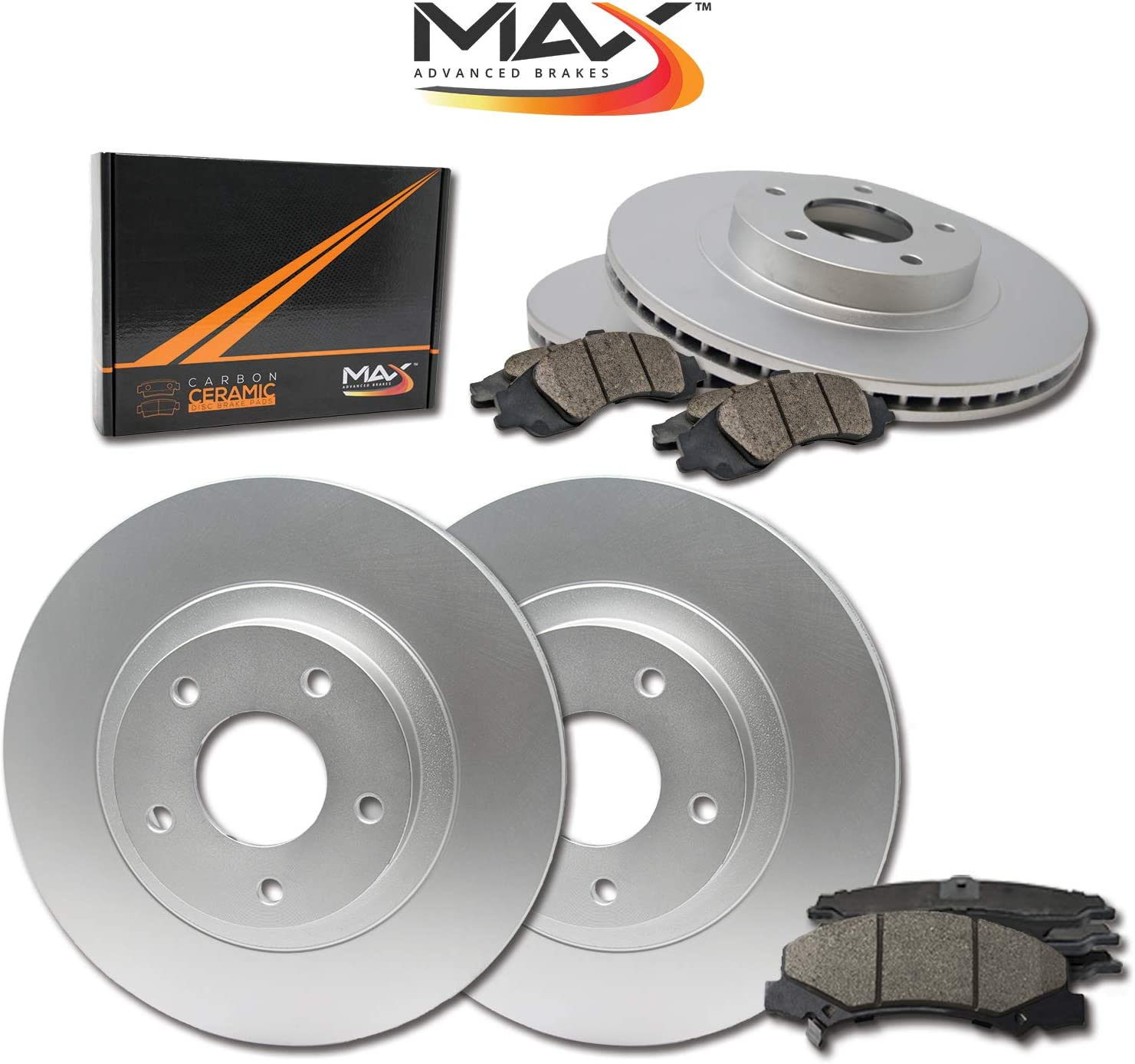 SEAL limited product Front + Rear Max Brakes Geomet with Rotors 25% OFF Ceramic P Carbon OE