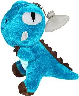 Lucore Mini Dinosaur Plush Stuffed Animal Toy - Hanging Doll Lucky Charm Keychain (Blue)