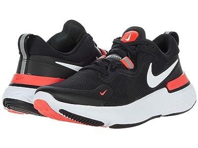 Nike React Miler (Black/White/Laser Crimson/Oil Green) Men