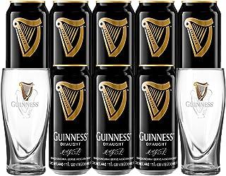 Cerveza Guinness Draught 8 Latas 440 ml + 2 Pintas Oficiales
