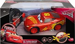 DICKIE TOYS 203084010Cars 3RRC Turbo Racer Lightning McQueen RC Vehicle, 1: 24Radio Control Car–17cm