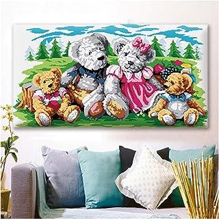 DIY Tapisserie Décorations murales pour la maison, Kits de crochet de loquet Grandes tapisseries colorées Apprendre à Croc...