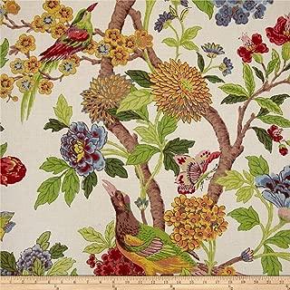 Richloom Fabrics Whipporwill Summer Linen Fabric, Ivory