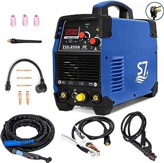 Tig Welder, HF TIG/Stick/Arc TIG Welder,200 Amp 110 & 220V Dual Voltage TIG Welding Machine