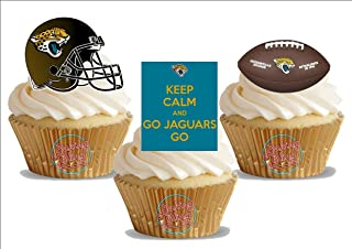 American Football Jacksonville Jaguars Trio Mix- Fun Novelty Birthday PREMIUM STAND UP Edible Wafer Card Cake Toppers Decoration