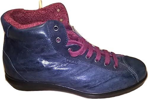 FRAU Stiefel de Piel Para Hombre Blau Turquesa