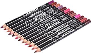 shopparadise リップライナー ペンシル 12色 防水 人気リップライナー ファッション リップラインペン 優れる発色力 艶消し口紅筆 リップスティック 長持ち 唇用美容ペン
