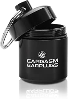 Eargasm Earplugs Carrying Case Great for Earplugs and Pills - Black