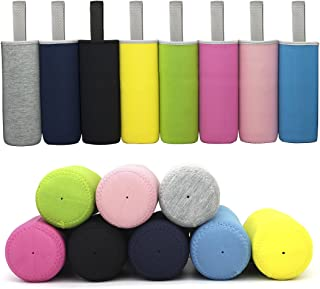 Kvvdi 8 Pack 12 oz - 18 oz Neoprene Water Bottle Sleeve 16.9 oz Insulated Glass Drink Bottle Cover