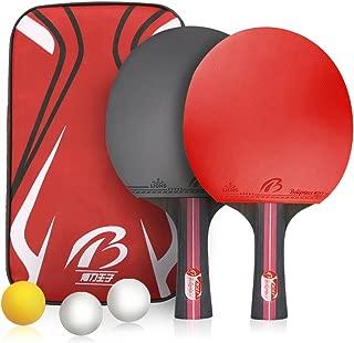 Weeygo Raquetas de Tenis de Mesa, Profesionales 2 Raquetas
