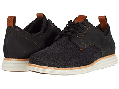 Cole Haan Original Grand Stitchlite Saddle Ox (Black Knit/Nubuck/Ivory) Men