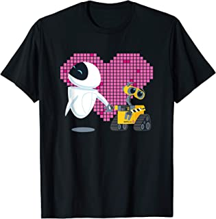 Disney Pixar Wall-E and Eve Geometric Heart T-Shirt
