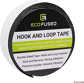 Eco-Fused Premium Adhesive Hook and Loop Tape - For Permanent and Non-Permanent Fastening - Stick and Remove Items Frequen...
