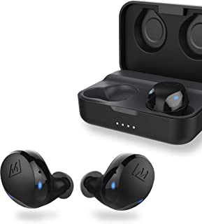 MEE audio X10 Truly Wireless in-Ear Headphones with Ergonomic Design, IPX5 Sweat Resistance, and 4.5 Hours Battery Life (23 Hours with Included Compact Charging case) (Black)