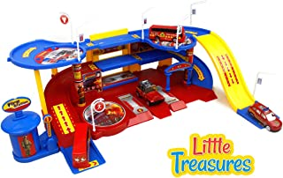 Little Treasures Toy, Fire Station Command Emergency Vehicle Unit Set