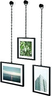 Umbra 311335-040 Fotochain 4x4 e 4x6 Moldura e conjunto de decoração de parede para fotos, preto
